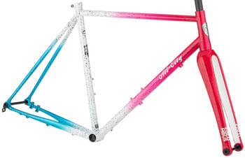 All-City Nature Cross Geared Frameset - 700c, Steel, Cyclone Popsicle, 58cm
