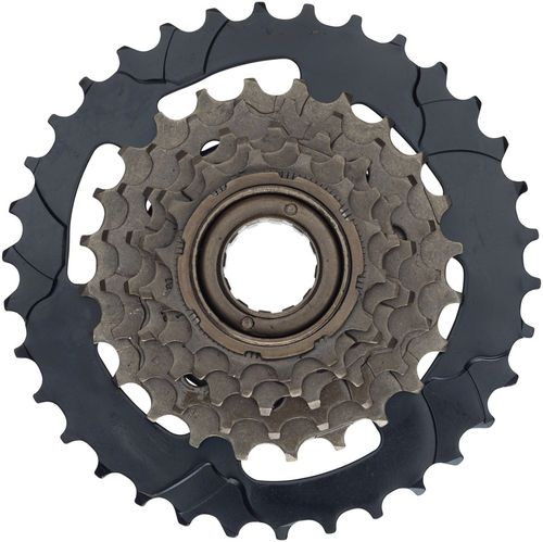 Dimension 6-Speed 14-34t Freewheel, Brown and Black
