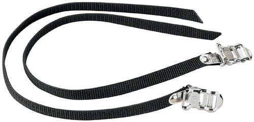 Dimension Nylon 450mm Basic Toe Straps, Black, Pair