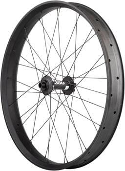 "Custom Alex CF-1 Carbon DT Swiss 350 Disc Rear Wheel - 26"" Fat, 12 x 197mm, 6-Bolt, HG 11, Black"