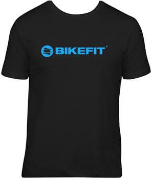 BikeFit Hyper Fluo Logo T-Shirt - Black/Blue, Small