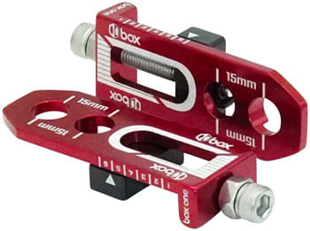BOX One Chain Tensioner - 10mm Axle Size, 2 Mounting Holes, Red