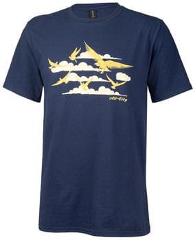 All City Men's Fly High T-Shirt - Navy, Gold, Small