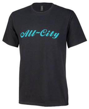 All City Men's Logowear T-Shirt - Black, Teal, Small