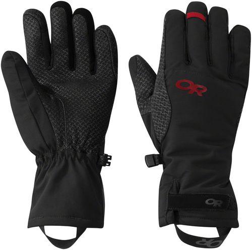 Outdoor Research Ouray Ice Gloves - Black/Tomato, Full Finger, Women's, Medium