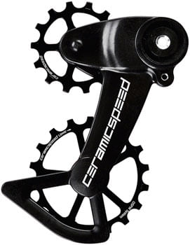 CeramicSpeed OSPW X Oversized Pulley Wheel System for SRAM Eagle AXS - Coated, Alloy Pulley, Carbon Cage, Black