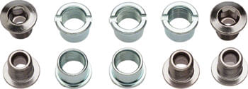Sugino Single 6mm Chainring Bolt Set of 5, Chromed Steel