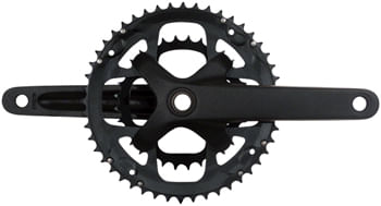 Samox G3 Crankset - 175mm, 10-11 Speed, 46/30t, 104/64bcd, 24mm Spindle, Black