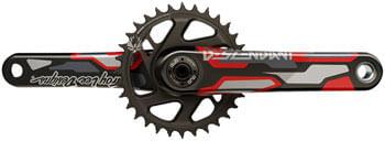 TruVativ Descendant Troy Lee Designs CoLab Carbon Crankset - 170mm, 12-Speed, 32t, Direct Mount, DUB Spindle Interface, Red