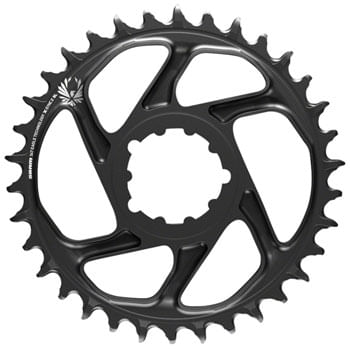 SRAM X-Sync 2 Eagle SL Direct Mount Chainring 38T Boost 3mm Offset, Black with Gray Logo