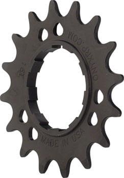 """Onyx Aluminum Cog: 3/32"""", 14t, Black"""