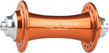 Chris King R45 Front Hub - QR x 100mm, Rim Brake, Mango, 24h