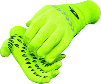 DeFeet Duraglove ET Gloves - Hi-Vis Yellow/Reflector, Full Finger, Medium