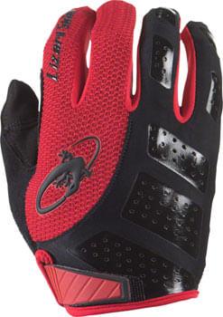 Lizard Skins Monitor SL Gloves - Jet Black/Crimson, Full Finger, Medium