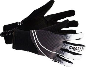 Craft Intensity Gloves - Black/White, Full Finger, Medium