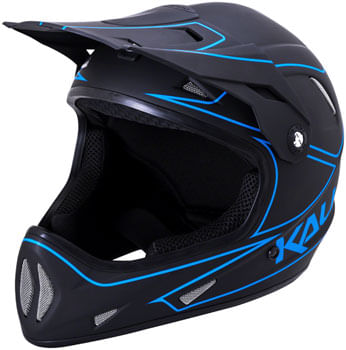 Kali Protectives Alpine Rage Youth Full-Face Helmet - Matte Black/Blue, Youth, Large
