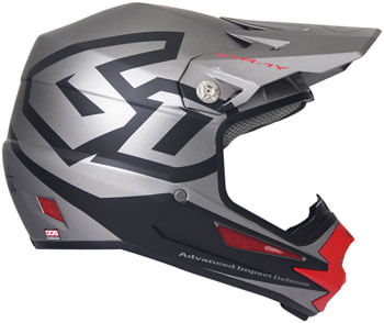 6D ATR-1Y Macro Youth Full-Face Helmet - Titanium, Youth, Large