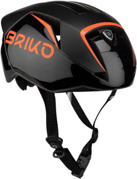 Briko Gass Fluid Helmet - Black/Orange Fluo, Small/Medium
