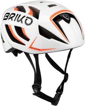 Briko Ventus Fluid Helmet - White/Orange Fluo, Small/Medium