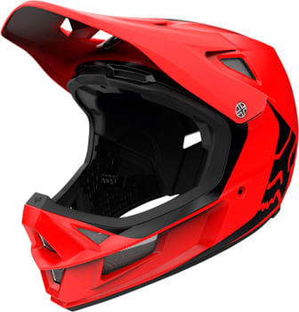 Fox Racing Rampage Comp Full Face Helmet - Bright Red, Large