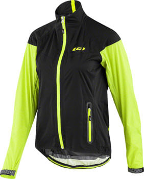 Garneau Torrent RTR Women's Jacket: Black/Yellow SM