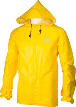 O2 Rainwear Element Series Rain Jacket with hood: Yellow 2XL