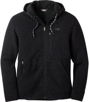 Outdoor Research Flurry Men's Jacket with Hood - Black, LG