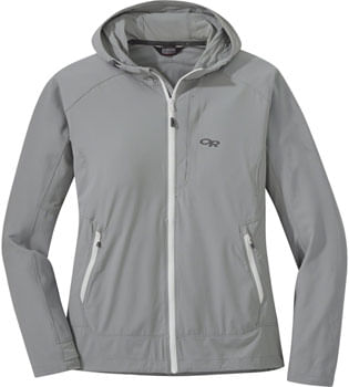 Outdoor Research Ferrosi Women's Hooded Jacket: Light Pewter, LG