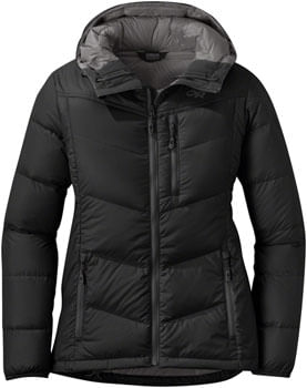 Outdoor Research Transcendent Women's 650-fill Down Hoody: Black, LG