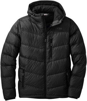 Outdoor Research Transcendent Men's 650-fill Down Hoody: Black, MD