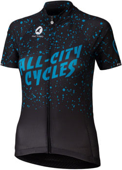 All-City Electric Boogaloo Jersey - Black/Blue, Short Sleeve, Women's, X-Large