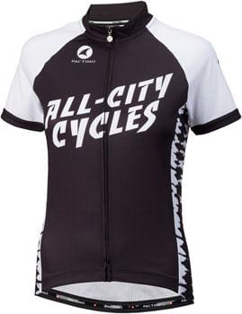 All-City Wangaaa! Jersey - Black/White, Short Sleeve, Women's, Small