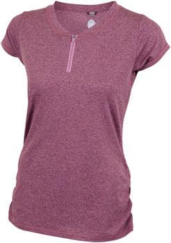 Club Ride Deer Abby Jersey - Merlot, Short Sleeve, Women's, X-Small