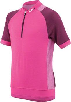Garneau Lemmon Junior Jersey - Pink Glow/Magenta Purple, Short Sleeve, Youth, X-Large