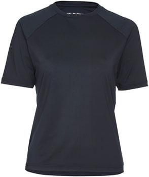 POC Essential MTB Tech T-Shirt Jersey - Uranium Black, Short Sleeve, Women's, Small