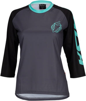 Salsa Devour MTB Jersey - Black Mint, 3/4 Sleeve, Women's, X-Large