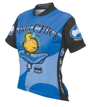 World Jerseys Women's Biker Chick Cycling Jersey: Blue, XL