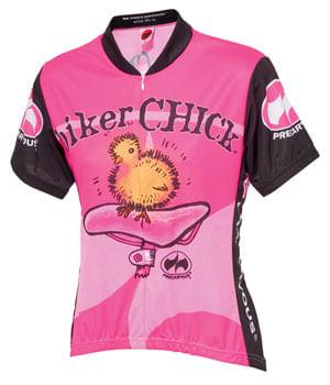 World Jerseys Biker Chick Jersey - Pink, Short Sleeve, Women's, X-Large