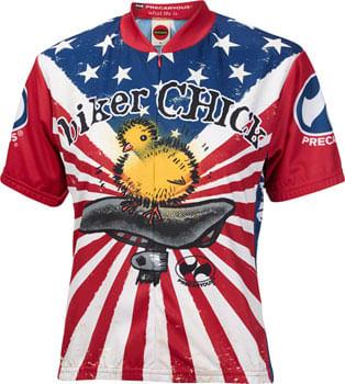 World Jerseys U.S. Biker Chick Jersey - Multi-Color, Short Sleeve, Women's, Small