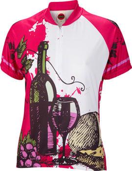 World Jerseys Wine Time Jersey - White/Red, Short Sleeve, Women's, Small