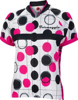 World Jerseys Formaggio Bubble Jersey - White/Fuchsia/Black, Short Sleeve, Women's, Large
