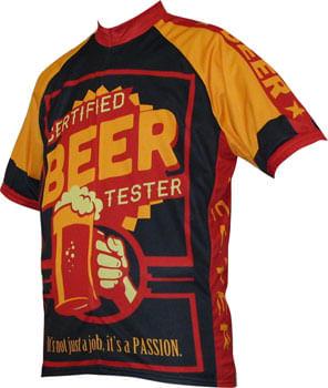 World Jerseys Beer Tester Jersey - Black/Gold, Short Sleeve, Men's, Large