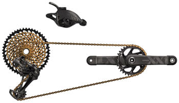 SRAM XX1 Eagle DUB Groupset: 175mm Boost 34 Tooth Crank, Rear Derailleur, 10-50 12-Speed Cassette, Trigger Shifter, and Chain, Black Logos