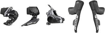 SRAM RED eTap AXS Electronic Road Groupset - 2x, 12-Speed, HRD Brake/Shift Levers, Flat Mount Disc Calipers, Front/Rear Derailleurs, D1