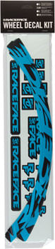 RaceFace Small Offset Rim Decal Kit, Neon Blue (801C)