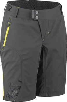 Garneau Off Season Women's Shorts: Gray/Yellow MD