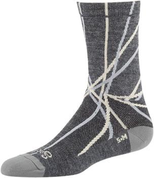 All-City Damn Fine Sock - 5 inch, Charcoal, Khaki, Sage Green, Large/X-Large