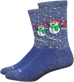 DeFeet Wooleator Comp Snow Day Socks - 6 inch, Admiral Blue, Large