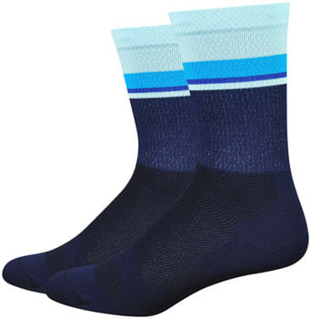 DeFeet Levitator Lite Socks - 6 inch, Navy/Light Blue, X-Large