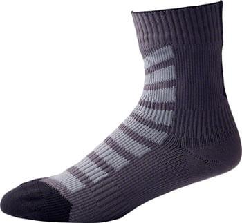 SealSkinz Hydrostop Thin Mid Hydrostop Waterproof Socks - 6 inch, Black, Small